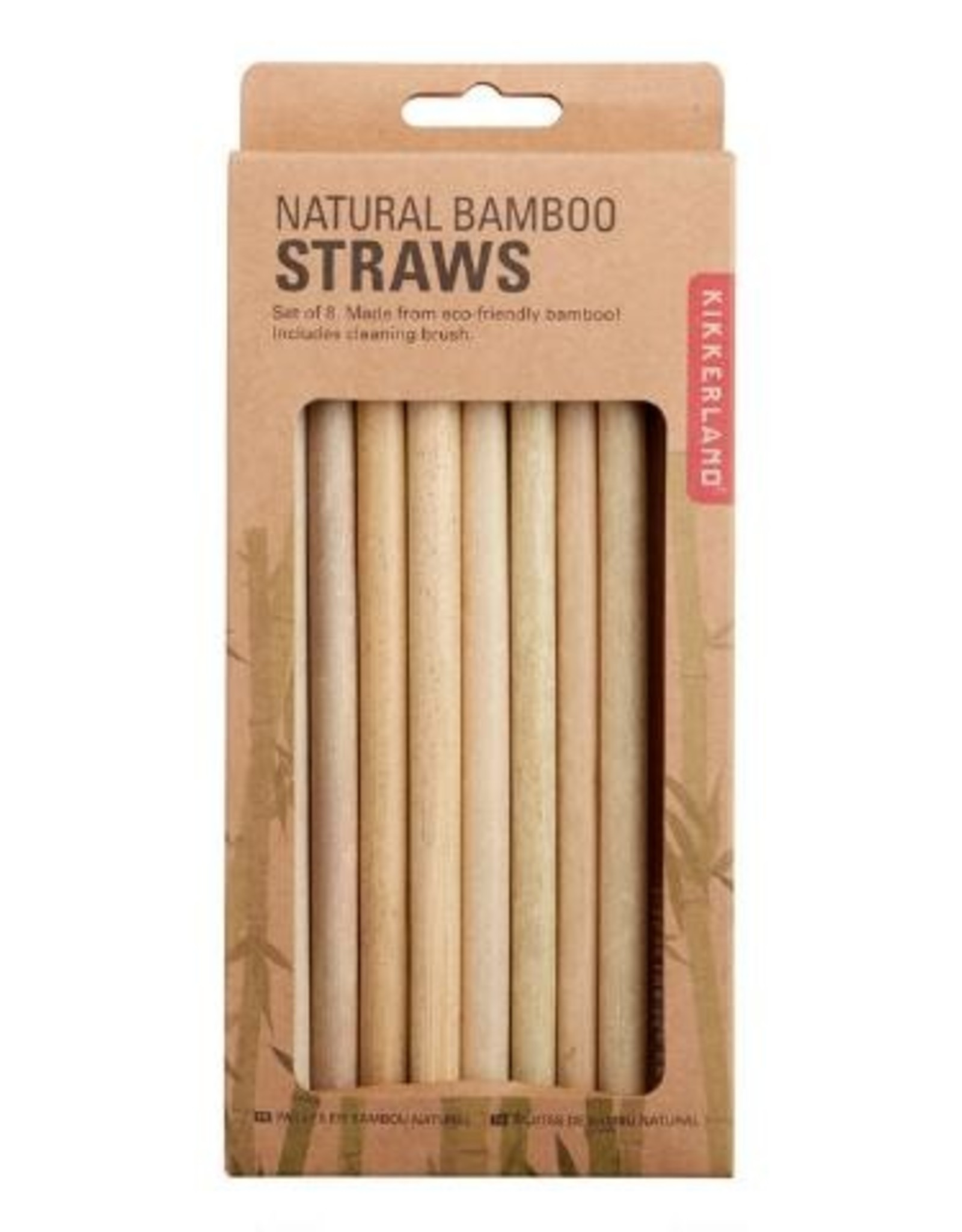 Kikkerland Straws - Bamboo