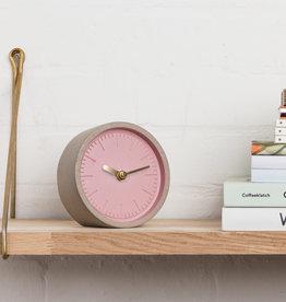 Suck UK Pink Concrete Desk Clock