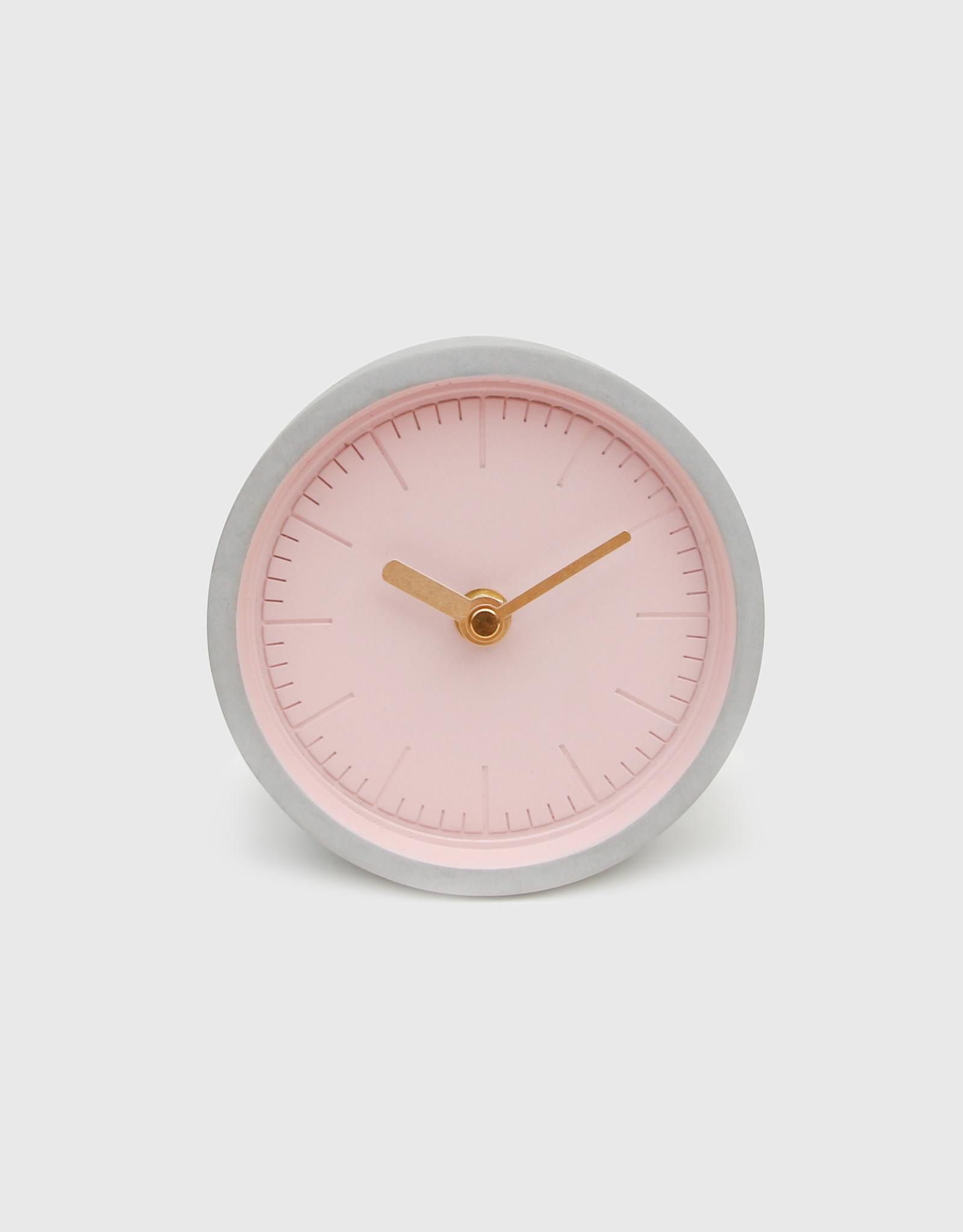 Suck UK Clock - Desk pink concrete