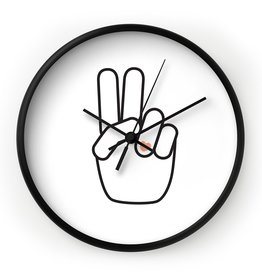 Deny Designs Peace Out Clock
