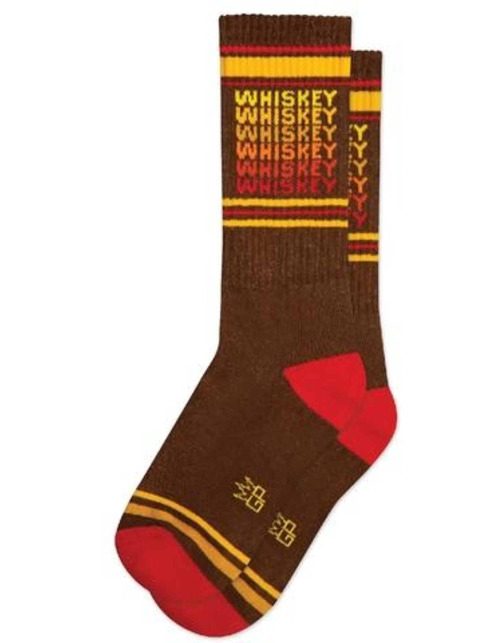 Gumball Poodle Athletic Socks: Whiskey