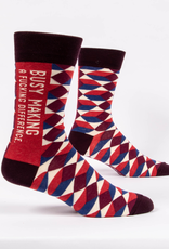 Blue Q Men's Socks - Busy Making a Difference