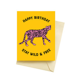 Seltzer Goods Card - Birthday: Wild Cheetah