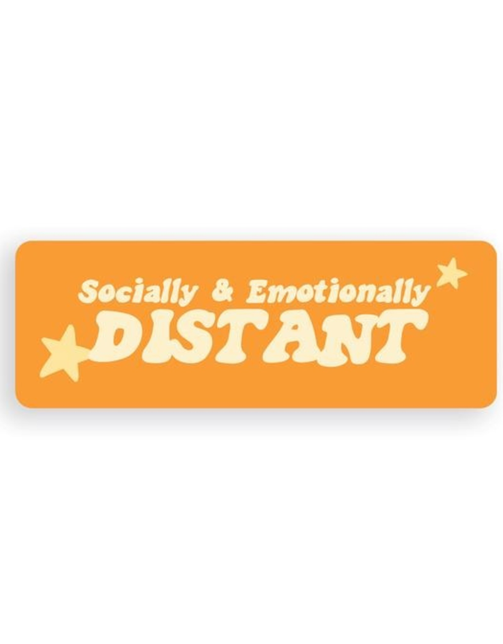 Party Mountain Paper Sticker: Socially & Emotionally Distant