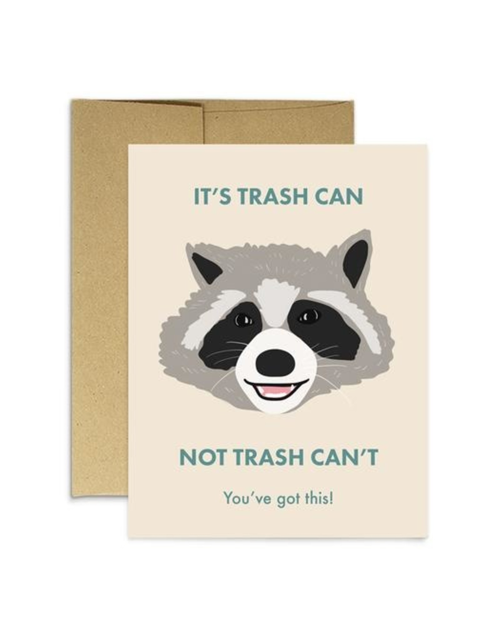 Party Mountain Paper Card - Blank: It's Trash Can, Not Trash Can't