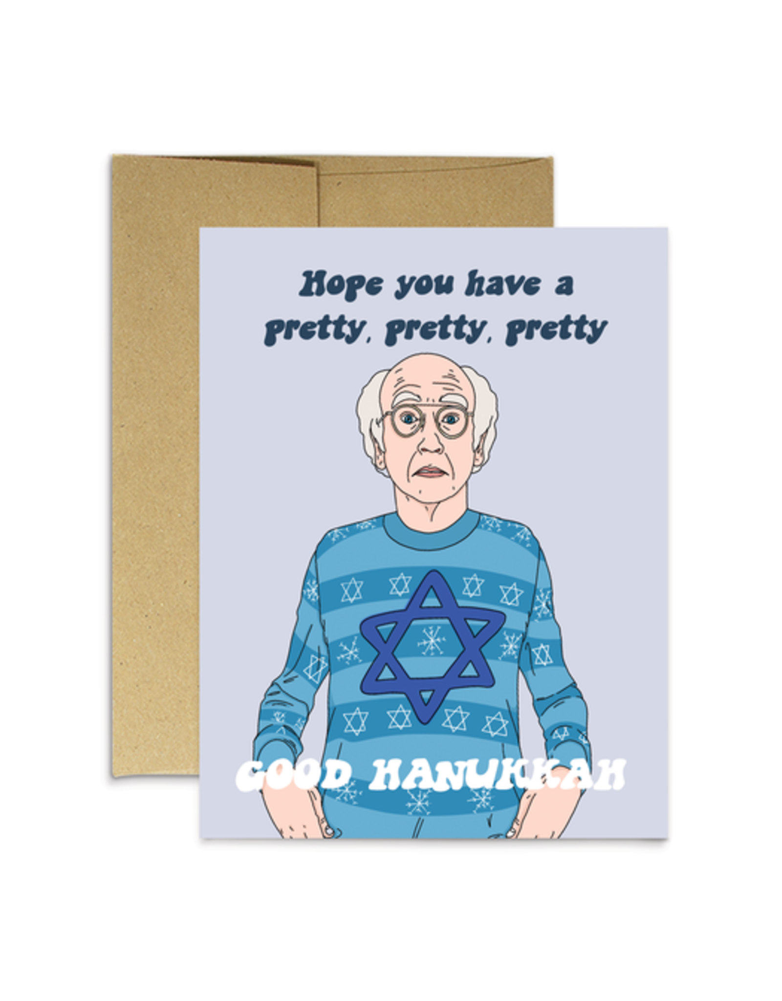 Party Mountain Paper Card - Holidays: Larry - Hope You Have A Pretty Good Hanukkah