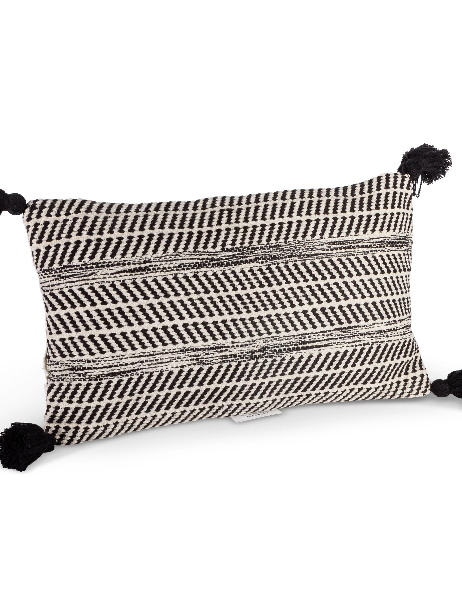 The Gerson Companies Lumbar Pillow - Black and White Woven