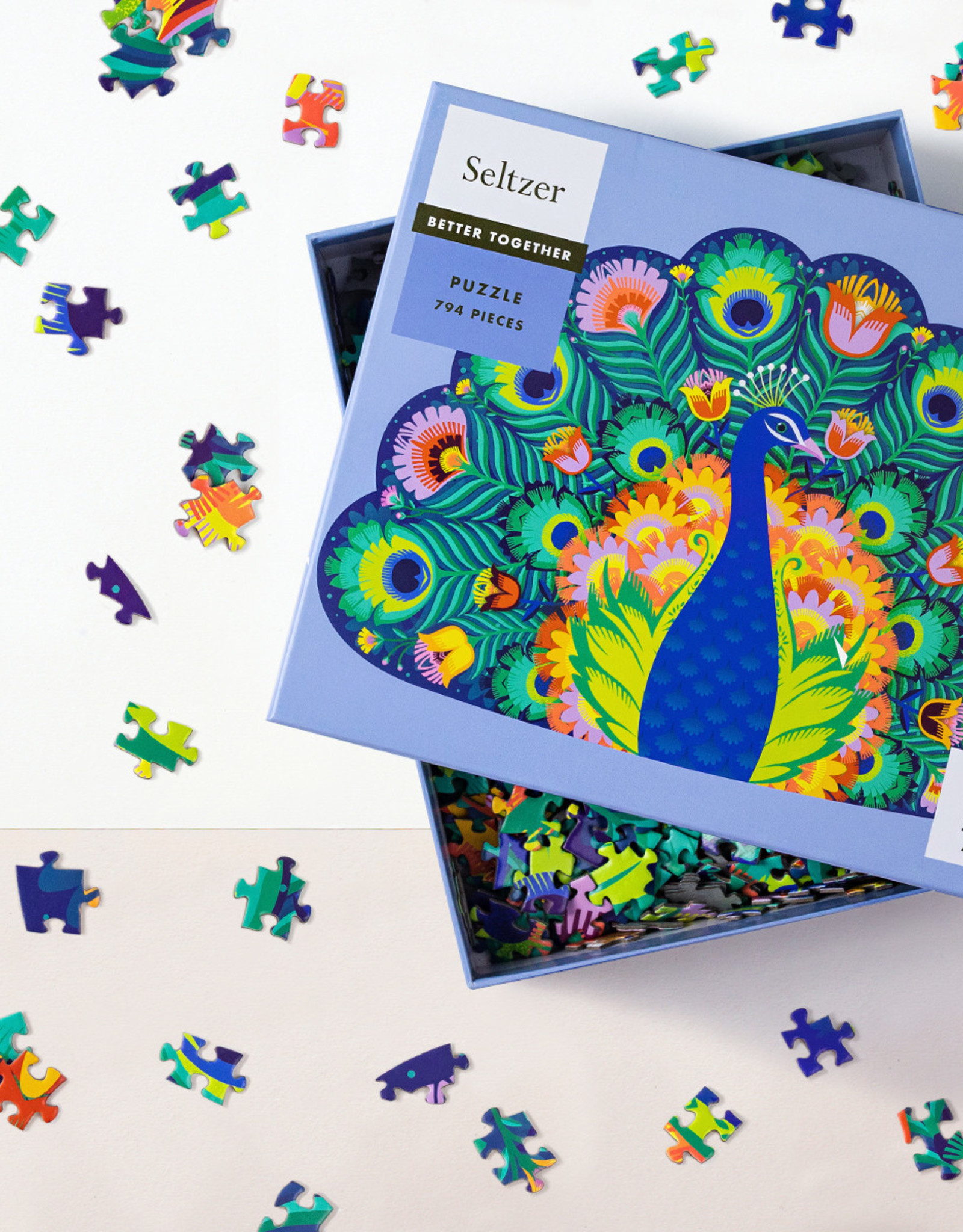 Seltzer Goods Puzzle - 794 Piece Peacock