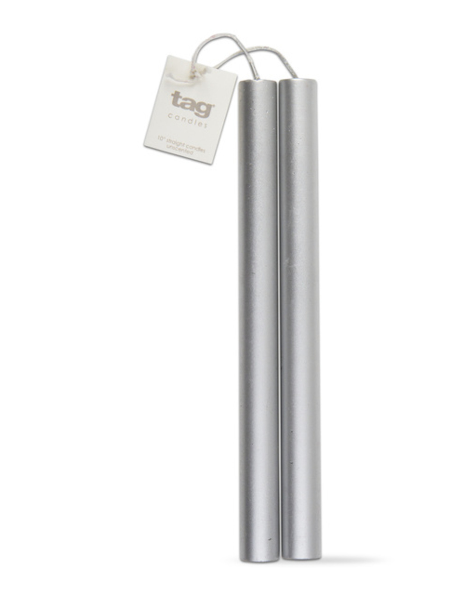 Tag Tapered Candles - Metalic