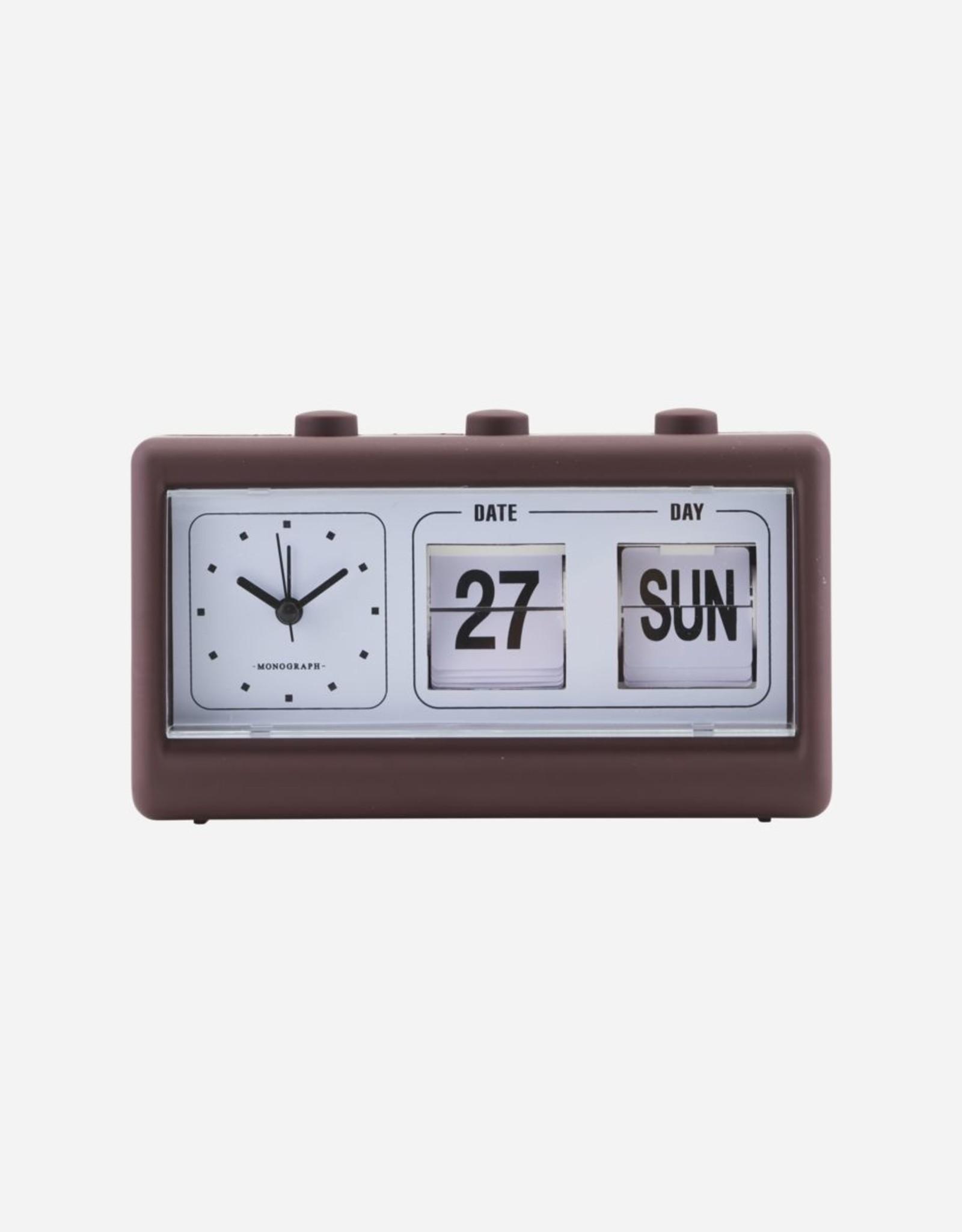 Society of Lifestyle Retro Burgundy Clock