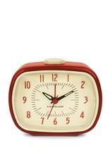 Kikkerland Retro Alarm Clock - red