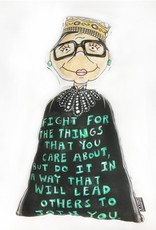 Kahri by KahriAnne Kerr Pillow: RBG Quote