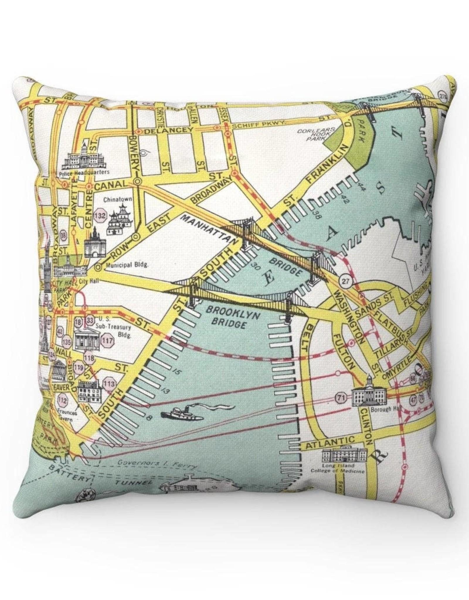 Daisy Mae Designs Pillow - Brooklyn Bridge