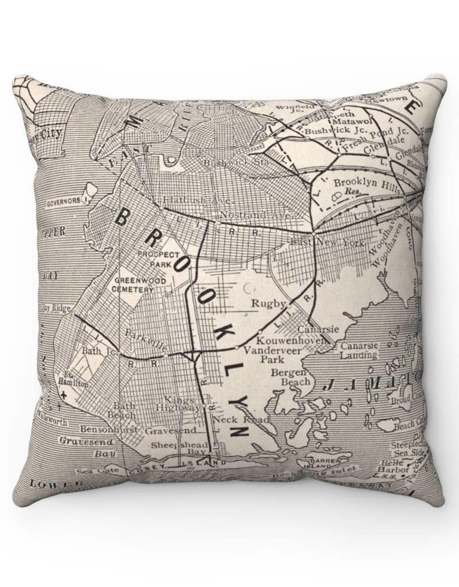 Daisy Mae Designs Brooklyn Black & White Map Pillow