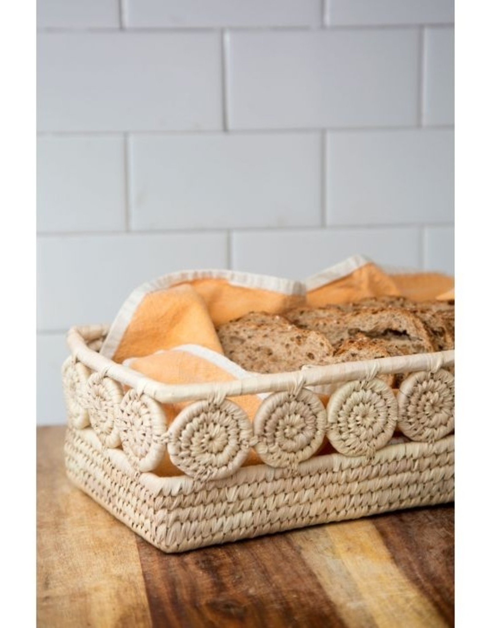 Ten Thousand Things Palm Medallion Basket