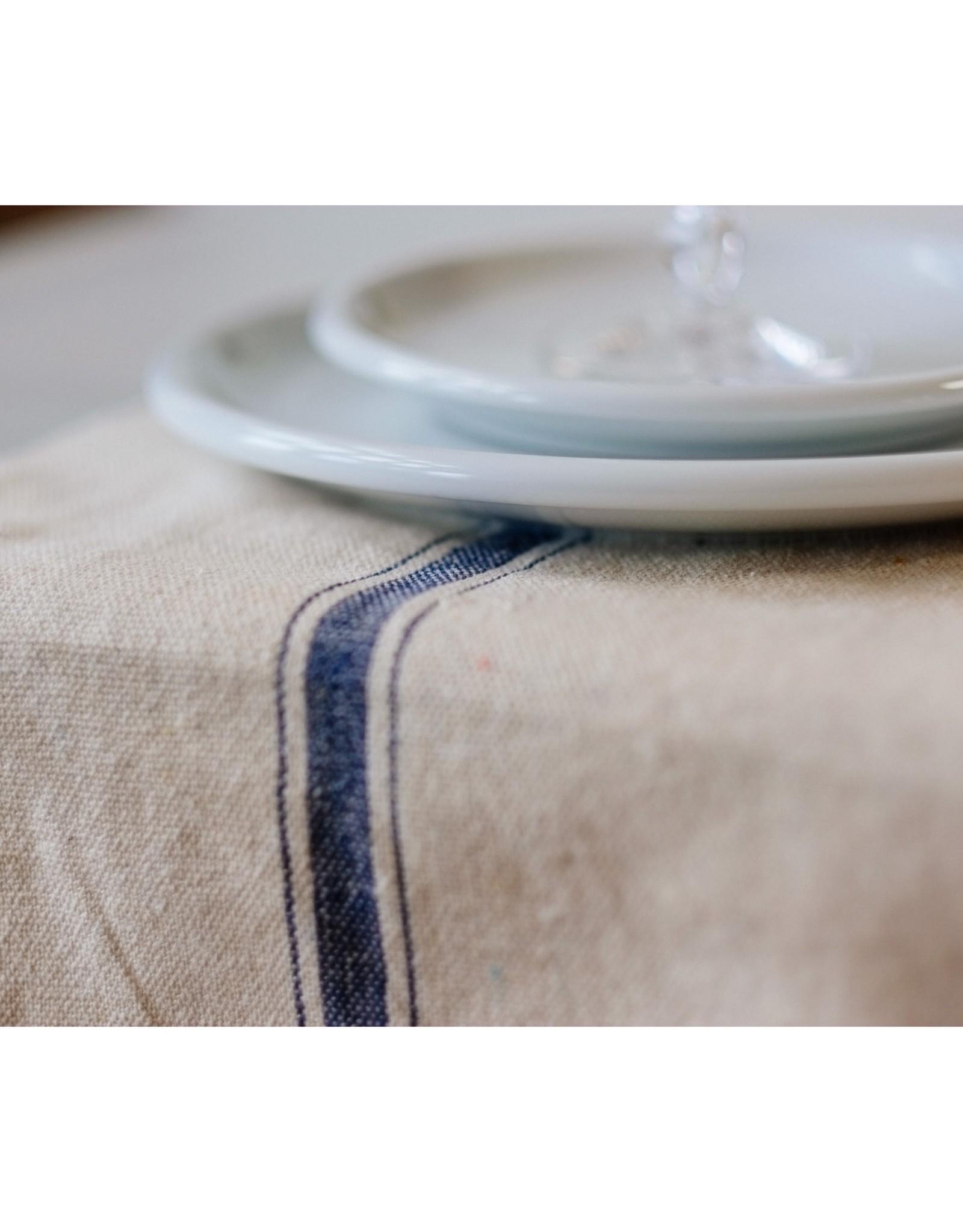 Old Lake George Table Runner - Blue Three Stripe