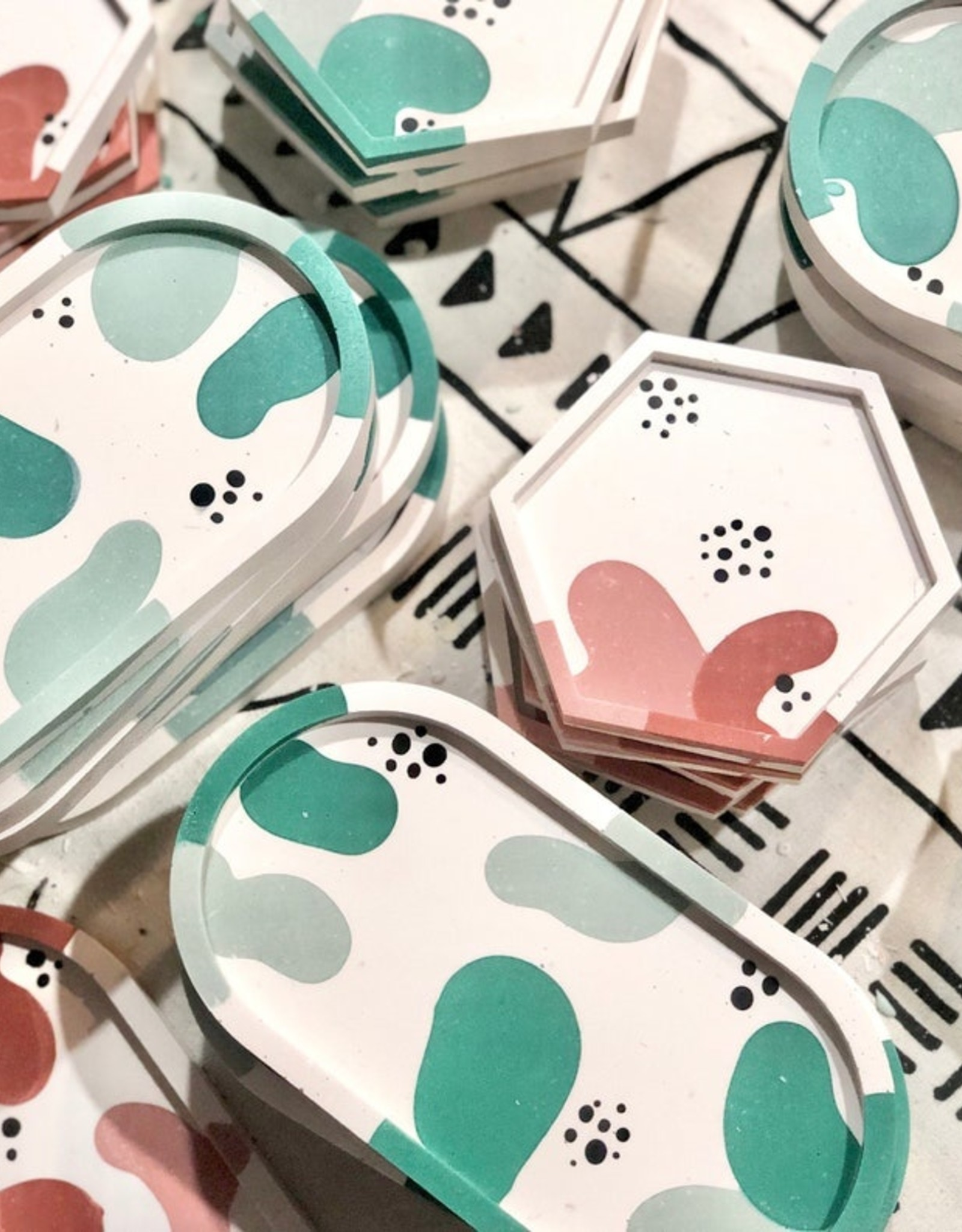 Amy Price Trinket Tray - Squiggle Teal