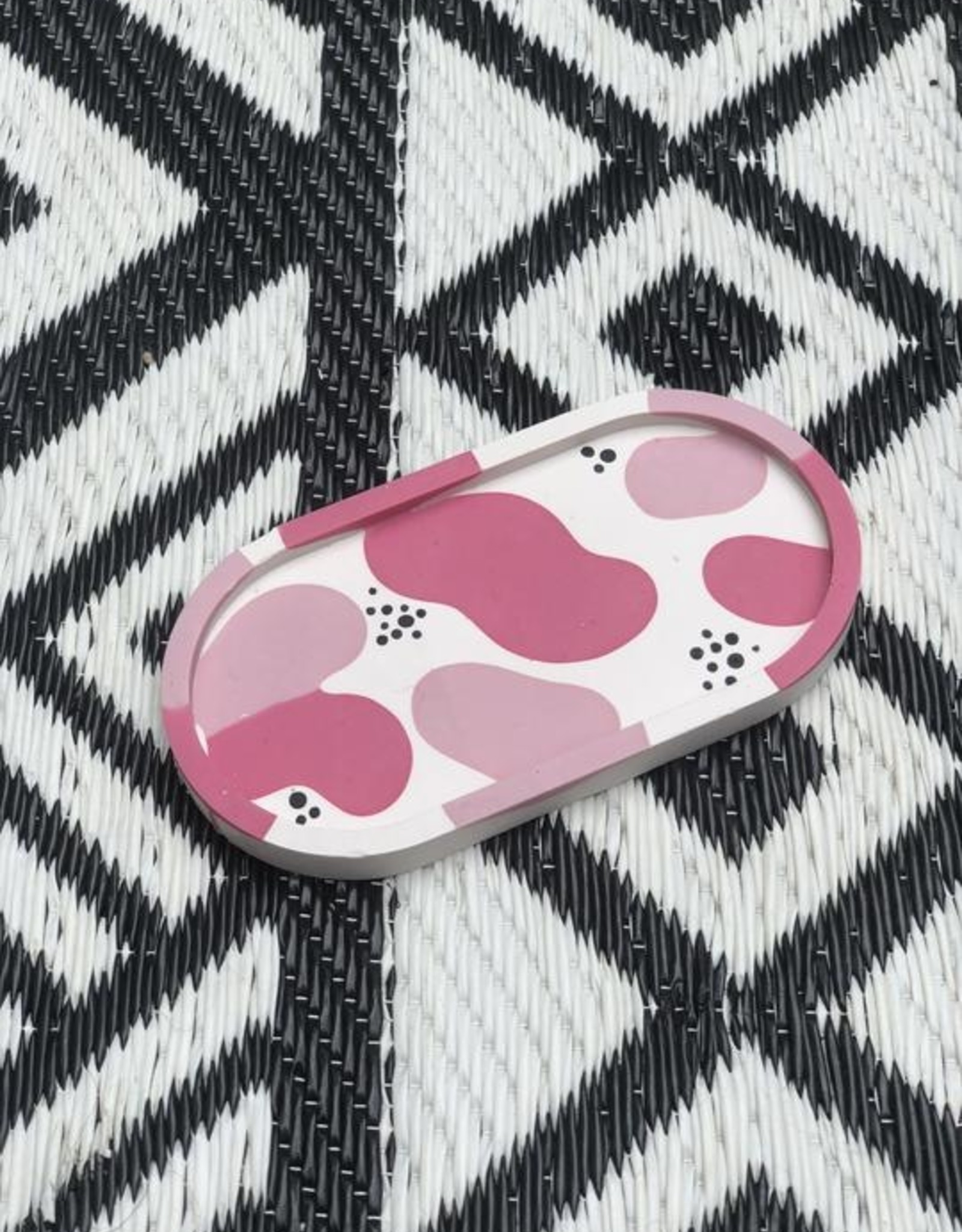 Amy Price Trinket Tray - Squiggle Pink
