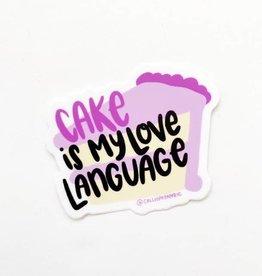 Calliope Pencil Factory Sticker - Cake is My Love Language