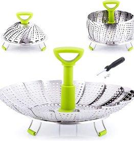 Zulay Kitchen Adjustable Vegetable Steamer Basket