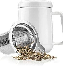 Tealyra Porcelain White  Mug With Infuser 19oz