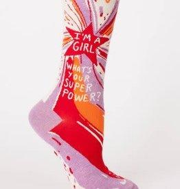 Blue Q Girl Power Socks