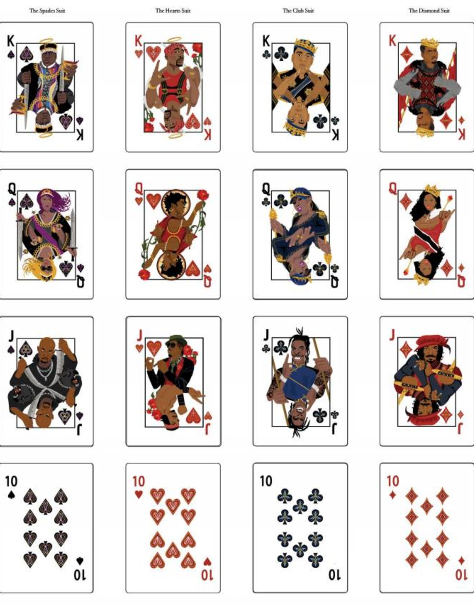 Hip Hop Playing Cards - 1998 Deck