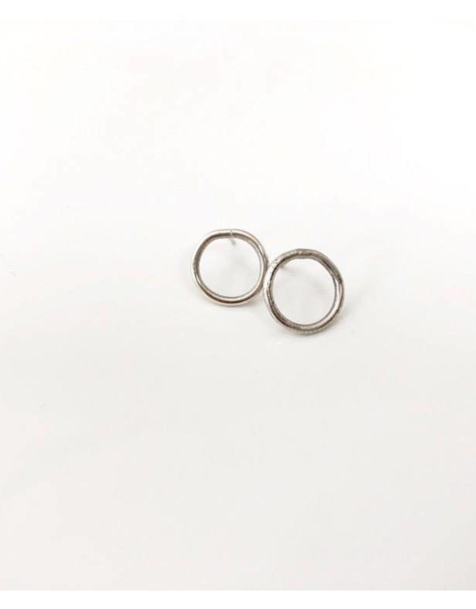SAK bijoux TAHSIS circle stud, silver