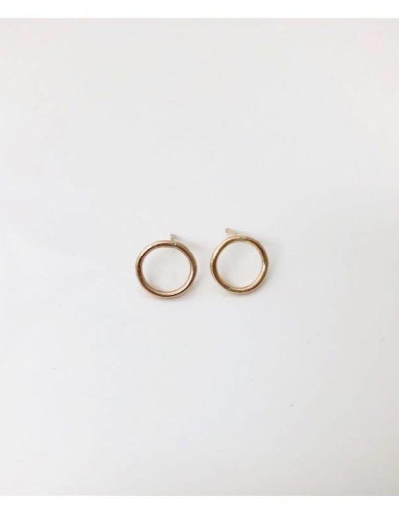 SAK bijoux TAHSIS circle stud, GOLD