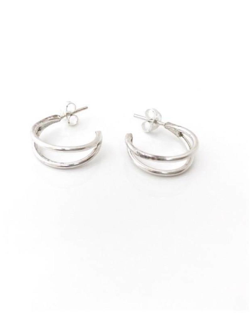 SAK bijoux MASSET hoops, Silver