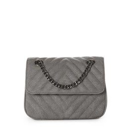 JEANE & JAX Quilted Chain X-Body SLATE