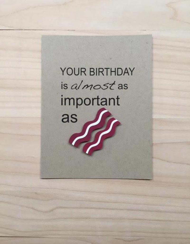 PEPPER POP paper BACON Birthday Card