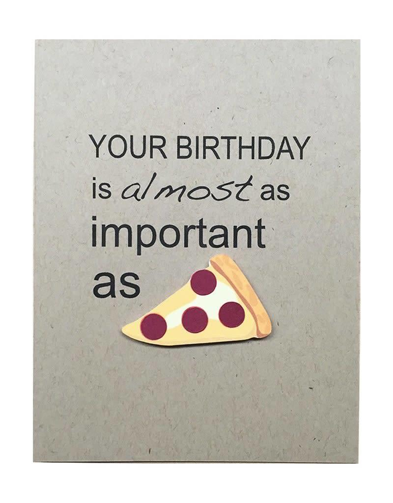 PEPPER POP paper PIZZA Birthday Card