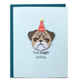 PEPPER POP paper Happy  Puggin' Birthday Card