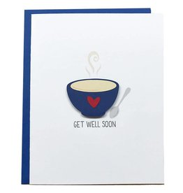 PEPPER POP paper SOUP, GET WELL SOON Card