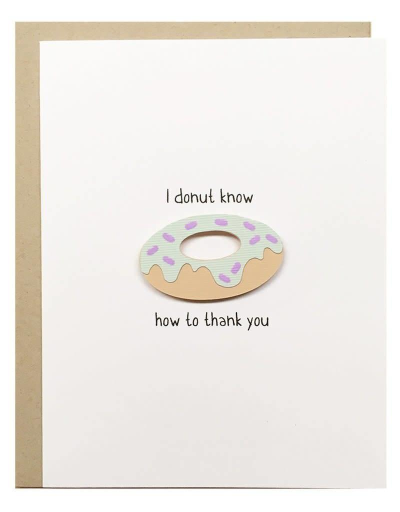 PEPPER POP paper DONUT Thank you Card