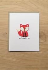 PEPPER POP paper FOX Card