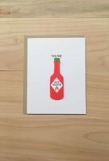 PEPPER POP paper HOT SAUCE Card