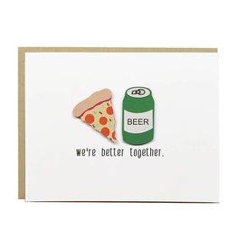 PEPPER POP paper PEPPER POP paper PIZZA LOVE card