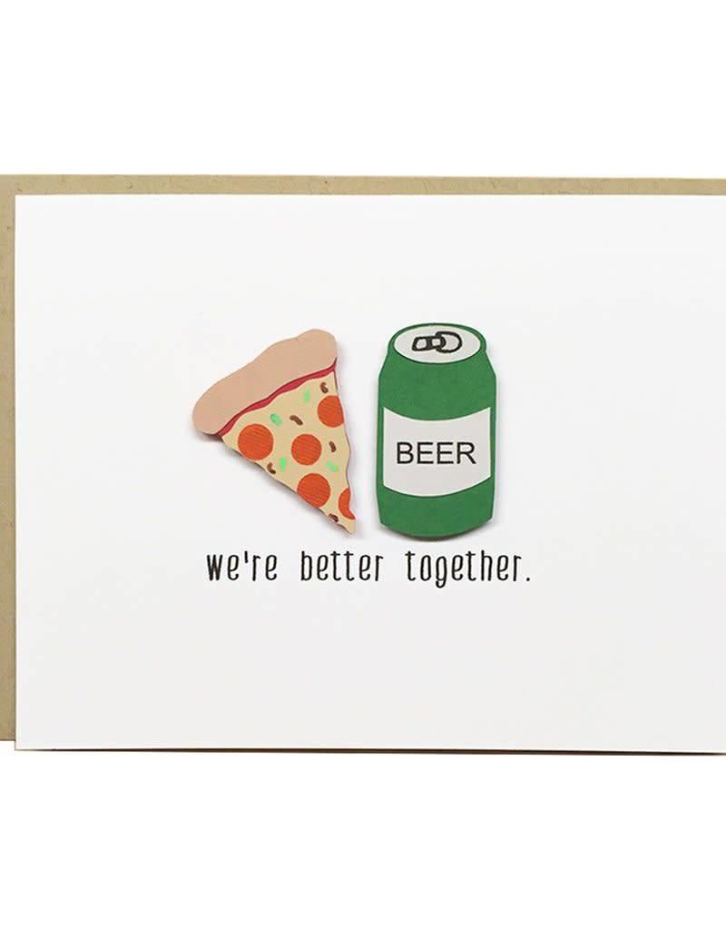 PEPPER POP paper PEPPER POP paper PIZZA+BEER CARD