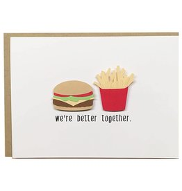 PEPPER POP paper PEPPER POP paper BURGER+FRIES CARD