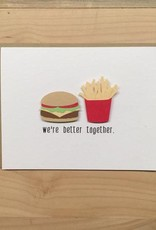 PEPPER POP paper PEPPER POP paper BURGER+FRIES CARD