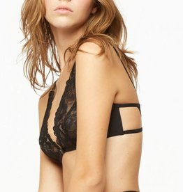 BLUSH SMOLDER 1/4 wire bralette, Black