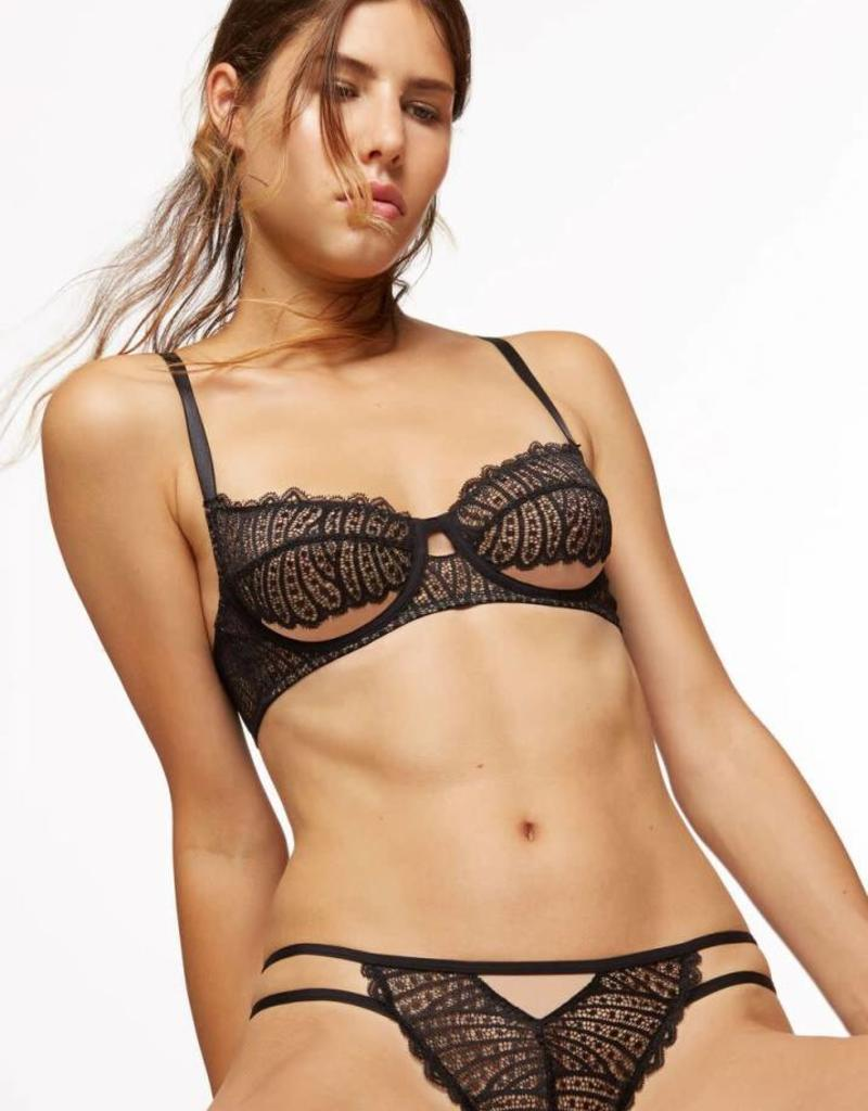 BLUSH DEMI wire bra, BLACK