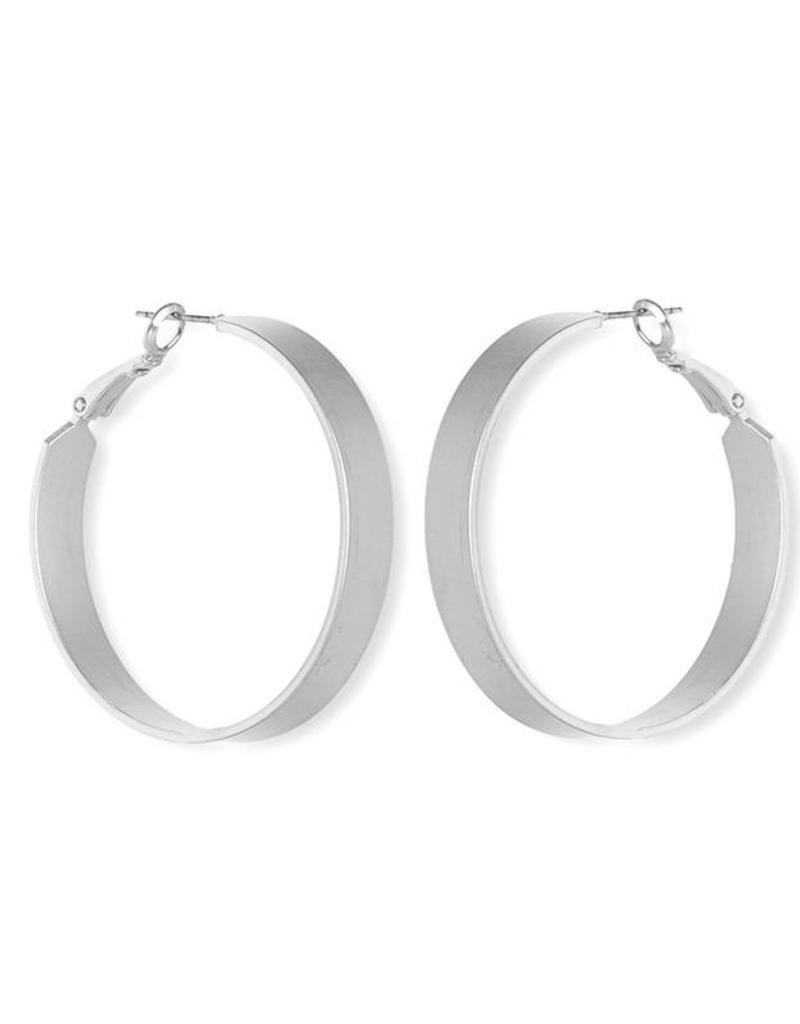 FAB Accessories Thick Luxe Hoops SILVER