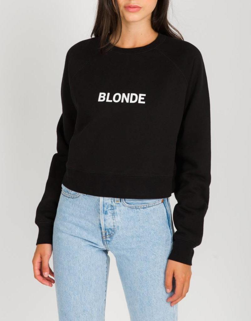BRUNETTE  the label Cropped little sister crew BLONDE