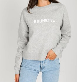 BRUNETTE  the label Cropped little sister crew, BRUNETTE