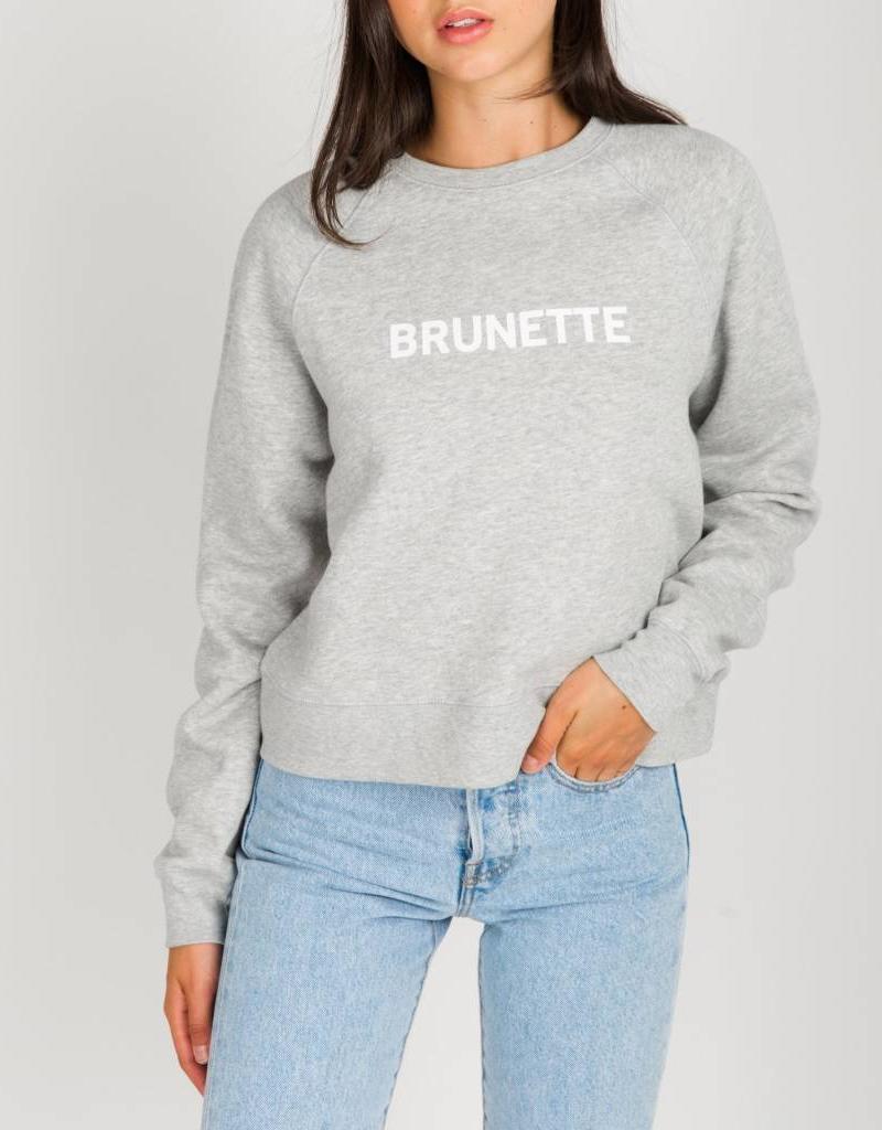 BRUNETTE  the label Cropped little sister crew, BRUNETTE