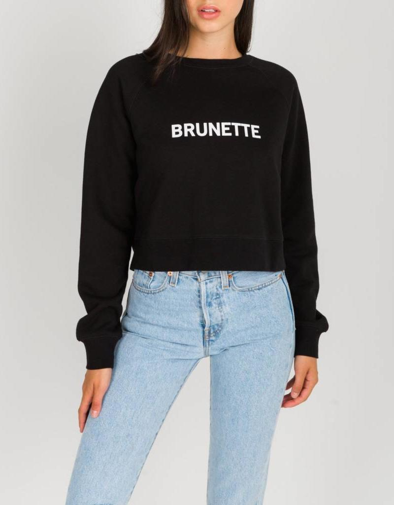 BRUNETTE  the label BRUNETTE cropped little sister crew
