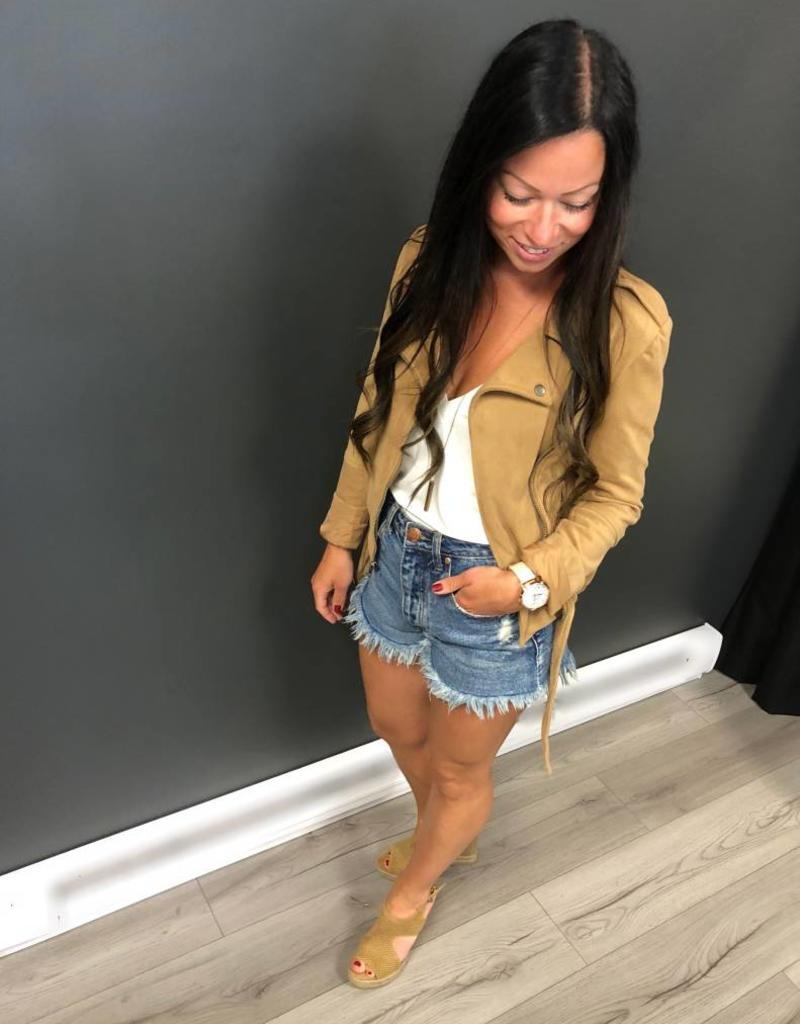BB DAKOTA Faux Suede MOTO jacket